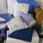 подушки вязаные квадратные