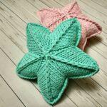 подушка на спицах звезда зеленая
