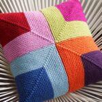 подушка на спицах разноцветная