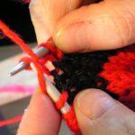 вязание подушки по кругу