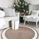 вязаный коврик декор