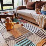 вязаный коврик фото декор