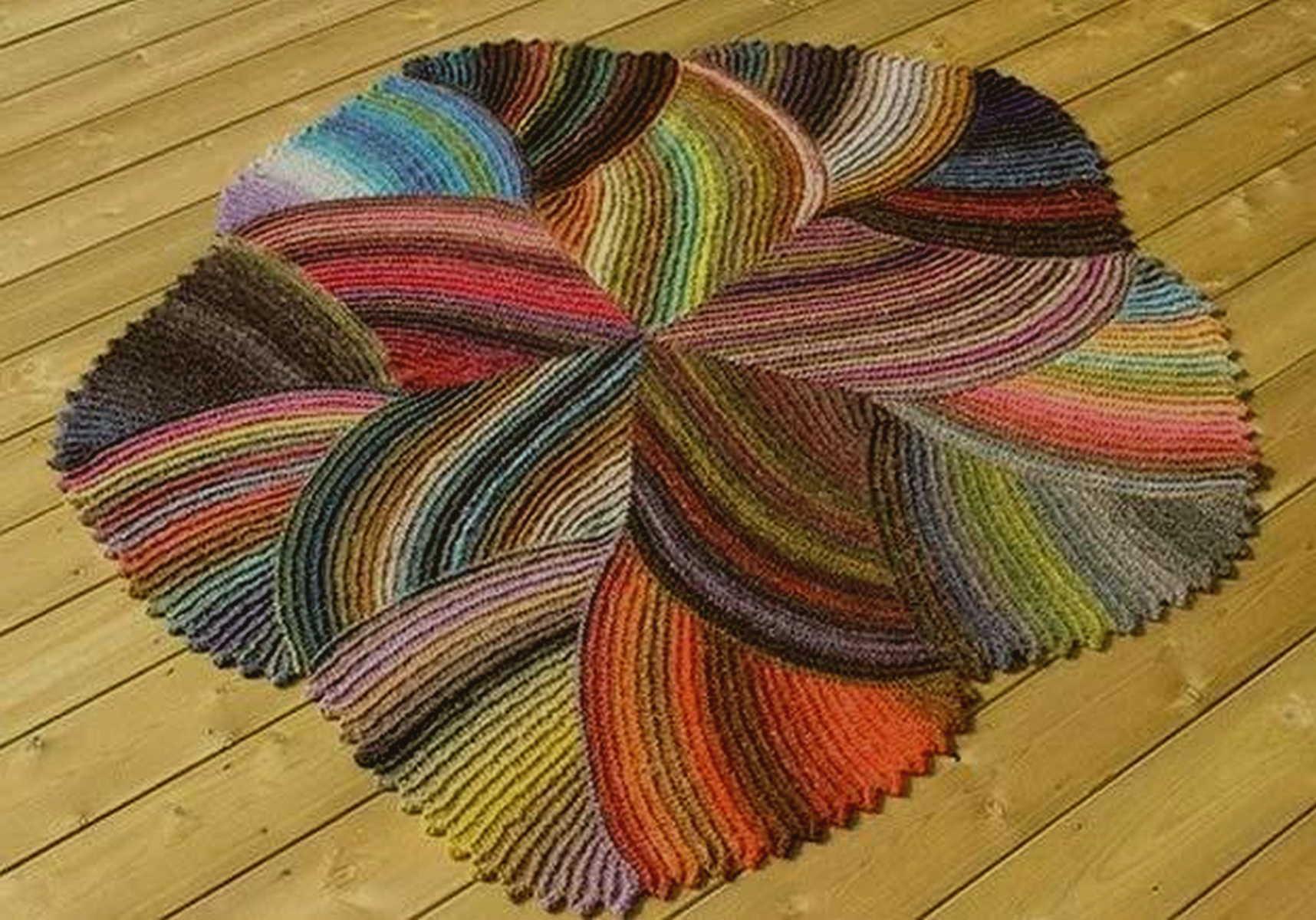вязаный коврик дизайн фото