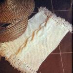 вязаный коврик фото декора