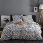 сатиновое постельное белье с орнаментом