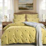 желтое сатиновое постельное белье