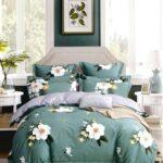 сатиновое постельное белье в крупные цветы