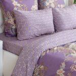 светло-фиолетовое сатиновое постельное белье