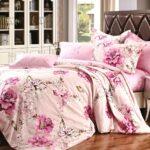 лиловое сатиновое постельное белье