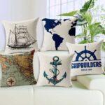 декоративная подушка морская