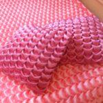 декоративная подушка розовыве с буфами