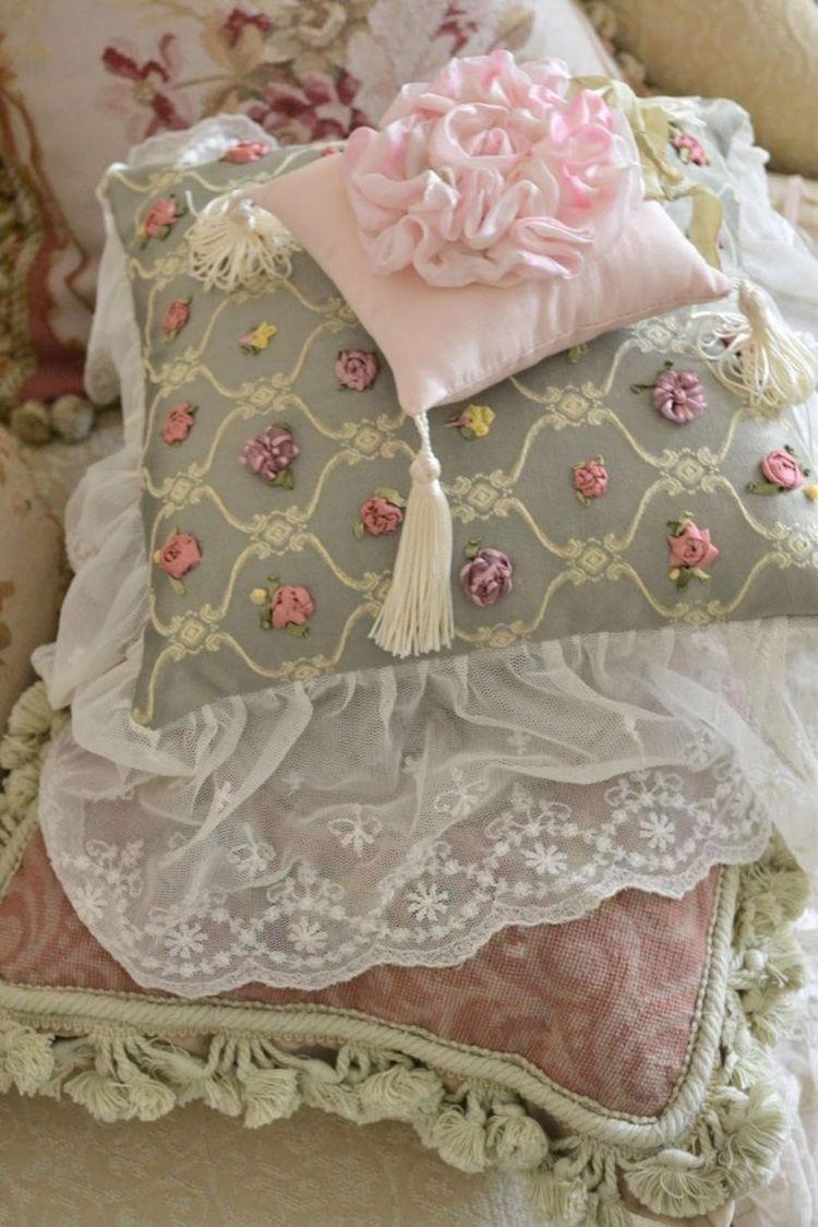 украшение чехла подушки