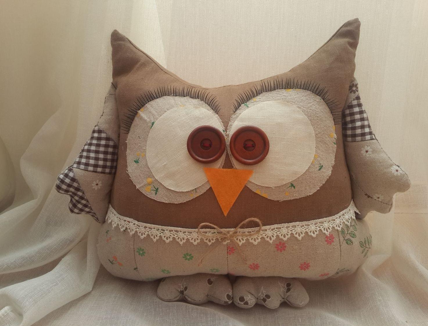 подушка сова декоративная