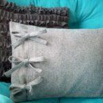 декоративная подушка серая