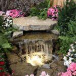 декоративный водопад прямой