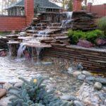 декоративный водопад многоуровневвый