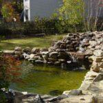 декоративный водопад зелеый