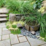 декоративный водопад с растениями
