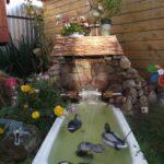 декоративный водопад с утками
