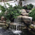 декоративный водопад невысокий