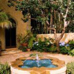 декоративный водопад с фонтаном