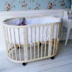 детская круглая кроватка трансформер идеи дизайна