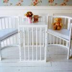 детская круглая кроватка трансформер декор фото