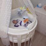 детская круглая кроватка трансформер фото декор