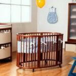 детская круглая кроватка трансформер идеи декора