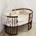 детская круглая кроватка трансформер фото