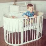 детская круглая кроватка трансформер идеи интерьера