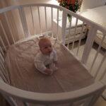 детская круглая кроватка трансформер фото оформление