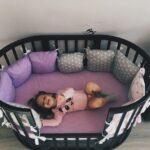 детская круглая кроватка трансформер варианты