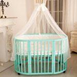 детская круглая кроватка трансформер варианты идеи