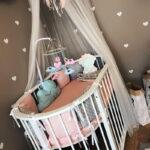 детская круглая кроватка трансформер дизайн фото
