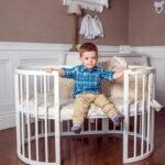 детская круглая кроватка трансформер фото дизайна