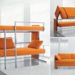 кровать двухъярусная трансформер оранж