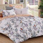 сатиновое постельное белье с узорами птиц
