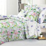 сатиновое постельное белье в мелкий цветок