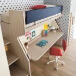 кровать чердак с рабочим столом идеи
