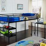 кровать чердак с рабочим столом дизайн фото