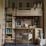 кровать чердак с рабочим столом идеи фото