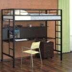 кровать чердак с рабочим столом фото дизайн