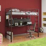 кровать чердак с рабочим столом фото дизайна