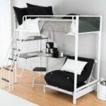кровать чердак с рабочим столом идеи оформления