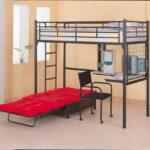 кровать чердак с рабочим столом идеи оформление