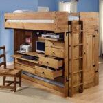 кровать чердак с рабочим столом интерьер идеи