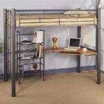 кровать чердак с рабочим столом оформление идеи