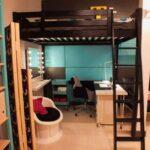 кровать чердак с рабочим столом виды фото