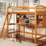 кровать чердак с рабочим столом идеи декор